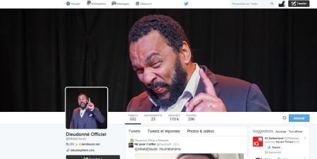Dieudonné  a lancé sur Twitter le hashtag #suintelahaine qui, selon son staff, «fonctionne bien et colle au contenu de ce réseau dans l'ère du selfie».