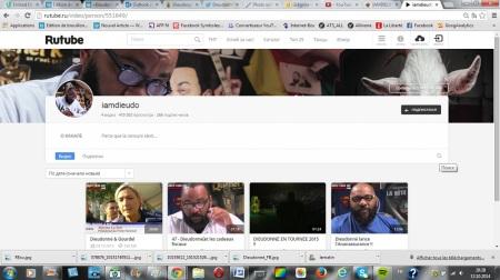 Dieudonné a ouvert un compte sur RuTube, le YouTube russe, afin de bénéficier d'une plus grande liberté d'expression.
