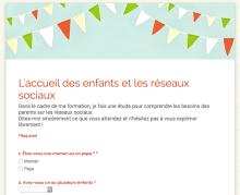 Questionnaire Accueil Enfants Crèche