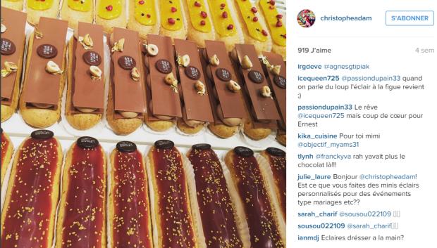 Le compte Instagram de Christophe Adam