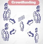 Infographic expliquant le mécanisme du crowdfunding