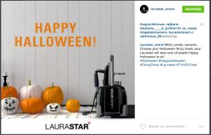 Avec le # Halloween sur Instagram