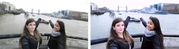 Comparaison photo avant-après retouches