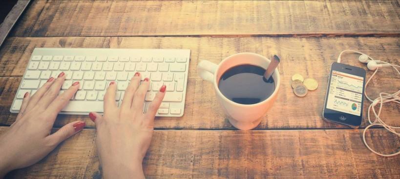 blogueuse au travail