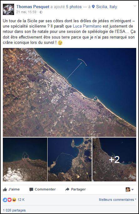 Post Facebook sur la côte sicilienne