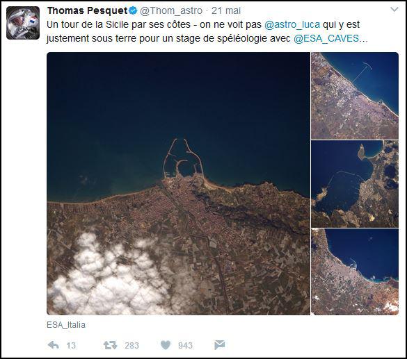 Tweet sur la côte sicilienne