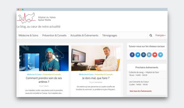 Blog Hôpital du Valais